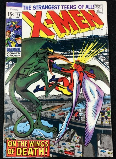 X-Men (1963) #61 VG/FN (5.0) vs Sauron Neal Adams cover & art