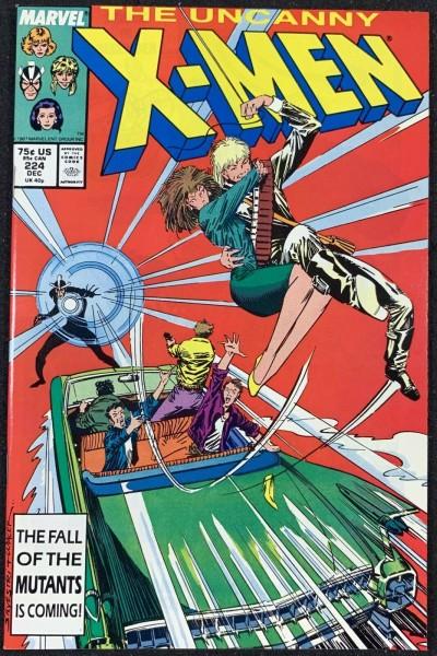 X-Men (1963) #224 NM (9.4) Mark Silvestri cover & art
