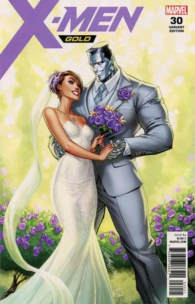 X-Men Gold (2017) #30 VF/NM (9.0) Wedding issue J. Scott Campbell variant cover