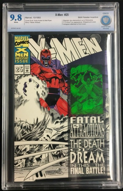 X-Men (1991) #25 CBCS 9.8 Black and White retailer incentive variant