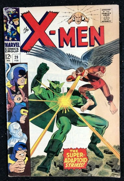 X-Men (1963) #29 VG (4.0) Mimic vs Super-Adaptoid battle cover