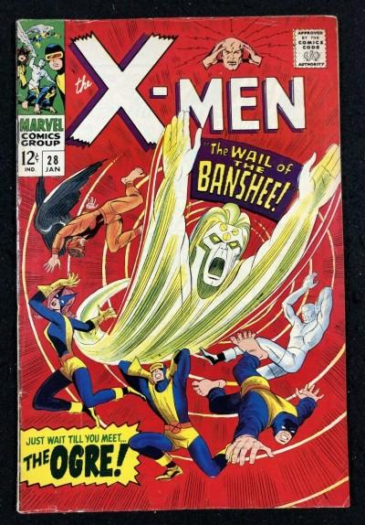 X-Men (1963) #28 FN- (5.5) 1st app Banshee