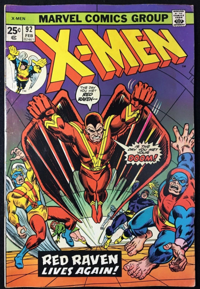 X-Men (1963) #92 FN- (5.5) new Red Raven cover