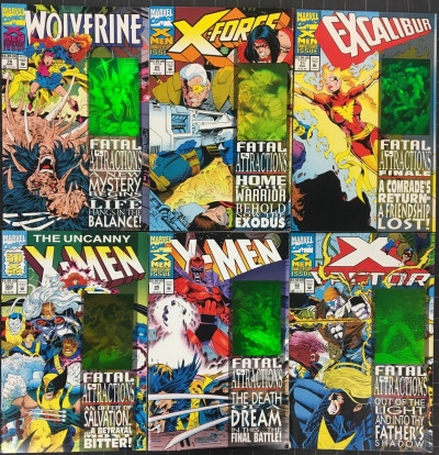 X-Men Fatal Attractions (1993) complete 6 part set VF/NM (9.0) Wolverine #75