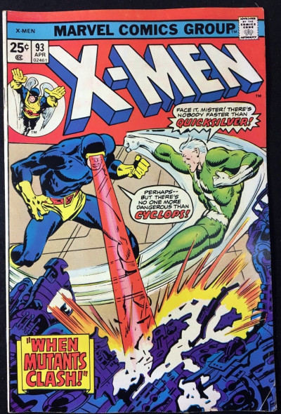 X-Men (1963) #93 FN+ (6.5) Cyclops vs Quicksilver battle cover