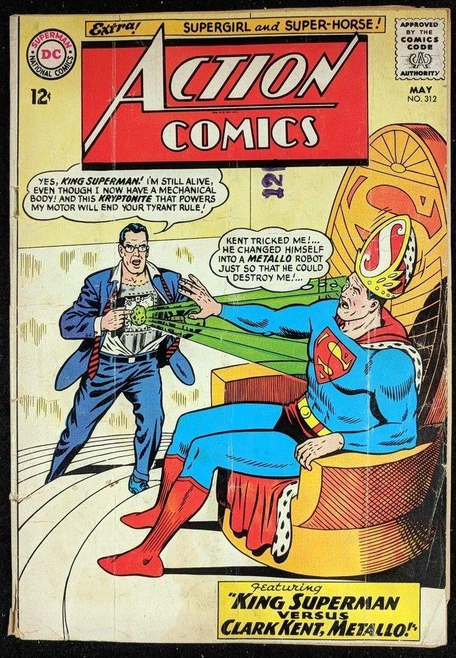Action Comics (1938) 312 GD (1.8) Superman