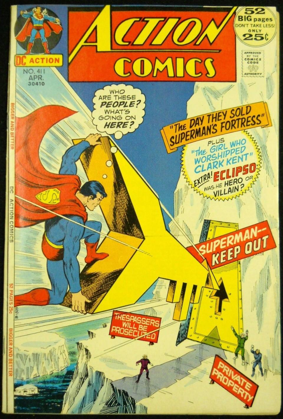 ACTION COMICS 411 VF Silver Age Comics