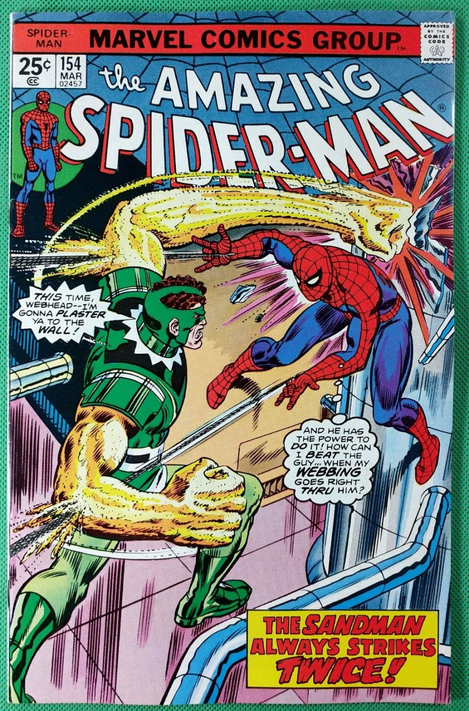 | Amazing Spider-Man (1963) #154 VF- (8.0) vs Sandman