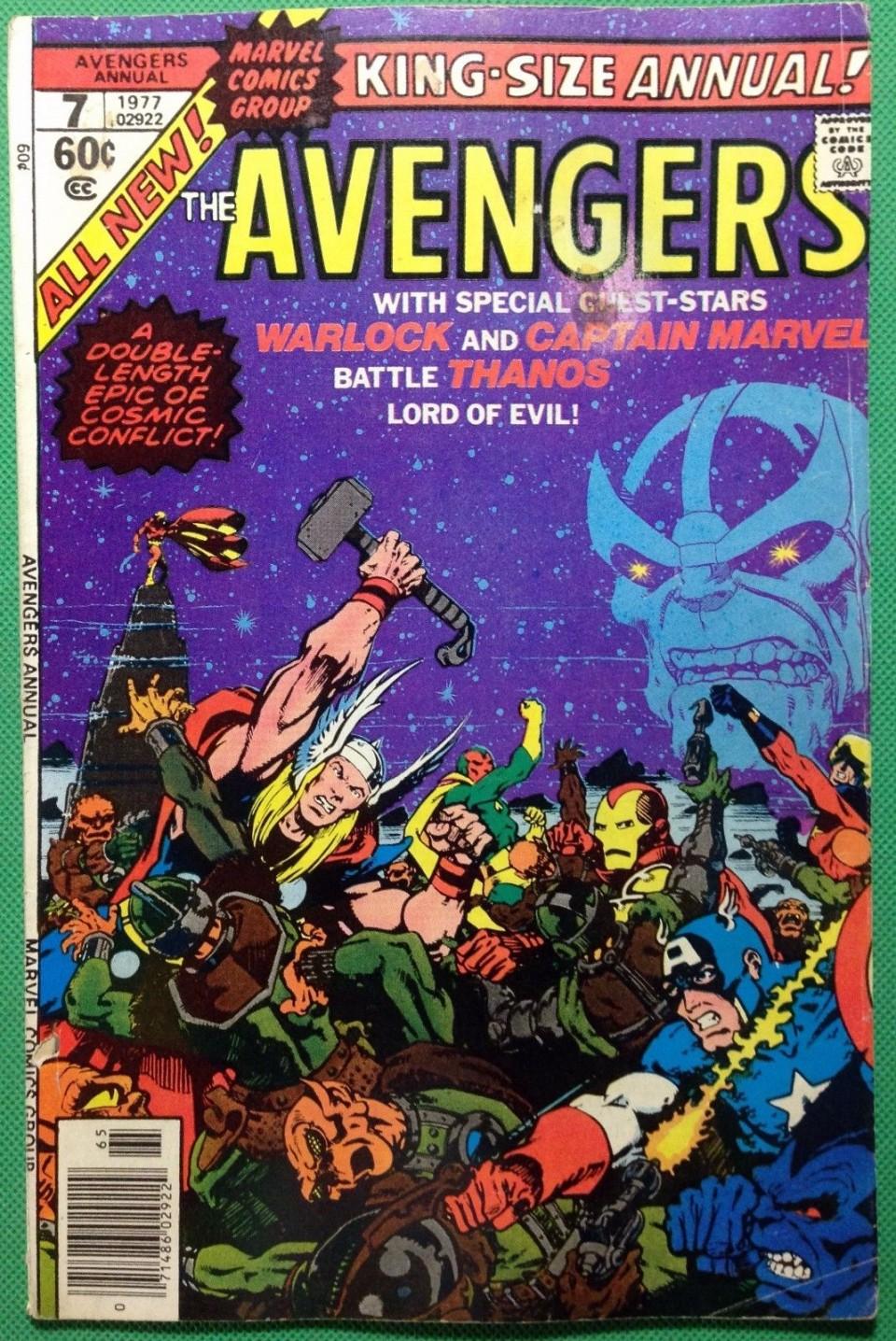 Avengers Annual (1963) #7 FN- (5 5) Death of Warlock Thanos app