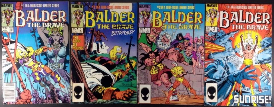 Balder the Brave 1985 series # 1 very fine comic book