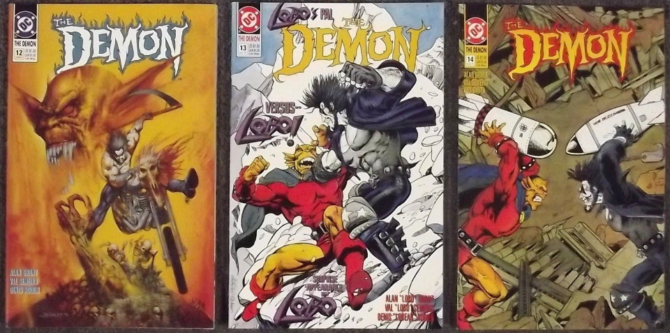 demon 39 s 12 13 14 lot of 3 nm vs lobo simon bisley silver age comics. Black Bedroom Furniture Sets. Home Design Ideas