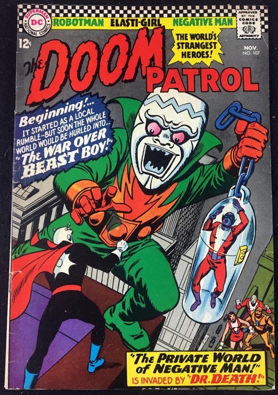 Doom Patrol 1964 107 Vg Fn 5 0 Beast Boy Cover Changeling