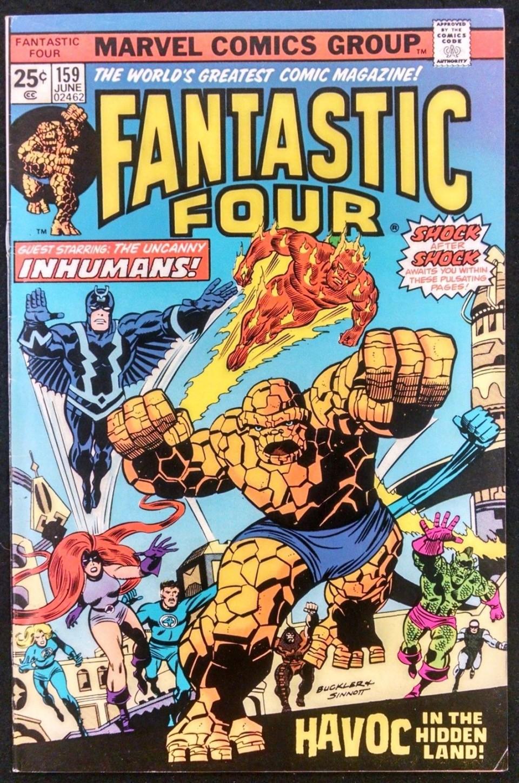 FANTASTIC FOUR 159 FN/VF INHUMANS COVER Silver Age Comics
