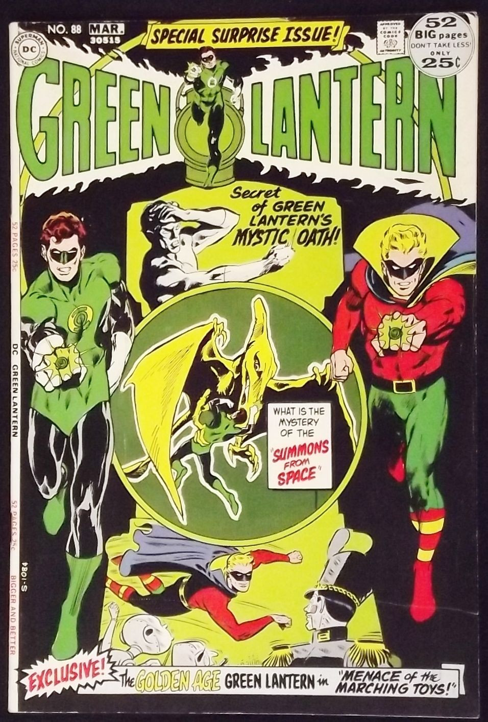 green lantern 88 fn vf classic neal green arrow silver age comics