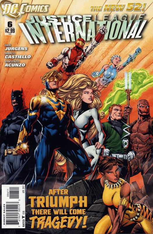 JUSTICE LEAGUE INTERNATIONAL 6 VF THE NEW 52! Silver