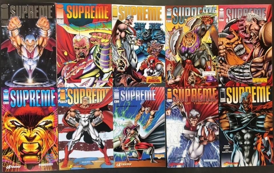 Supreme (1992) #1-40 + Annual #1 complete pre Alan Moore run 41 comic  reader lot