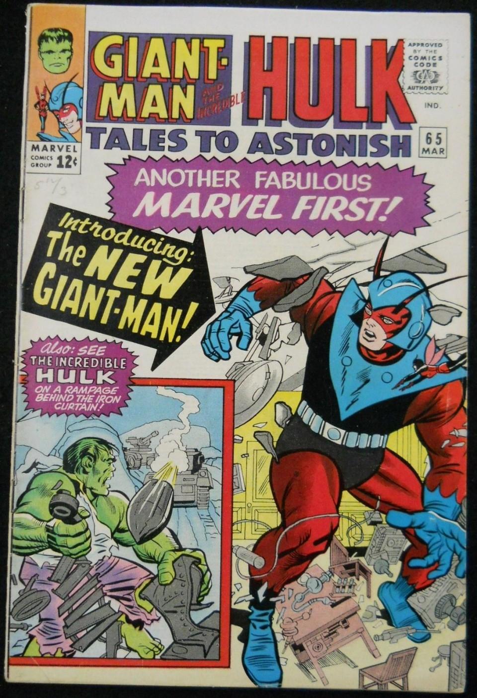 TALES TO ASTONISH #65 FN+NEW GIANT MAN COSTUME & TALES TO ASTONISH #65 FN+NEW GIANT MAN COSTUME - Silver Age Comics