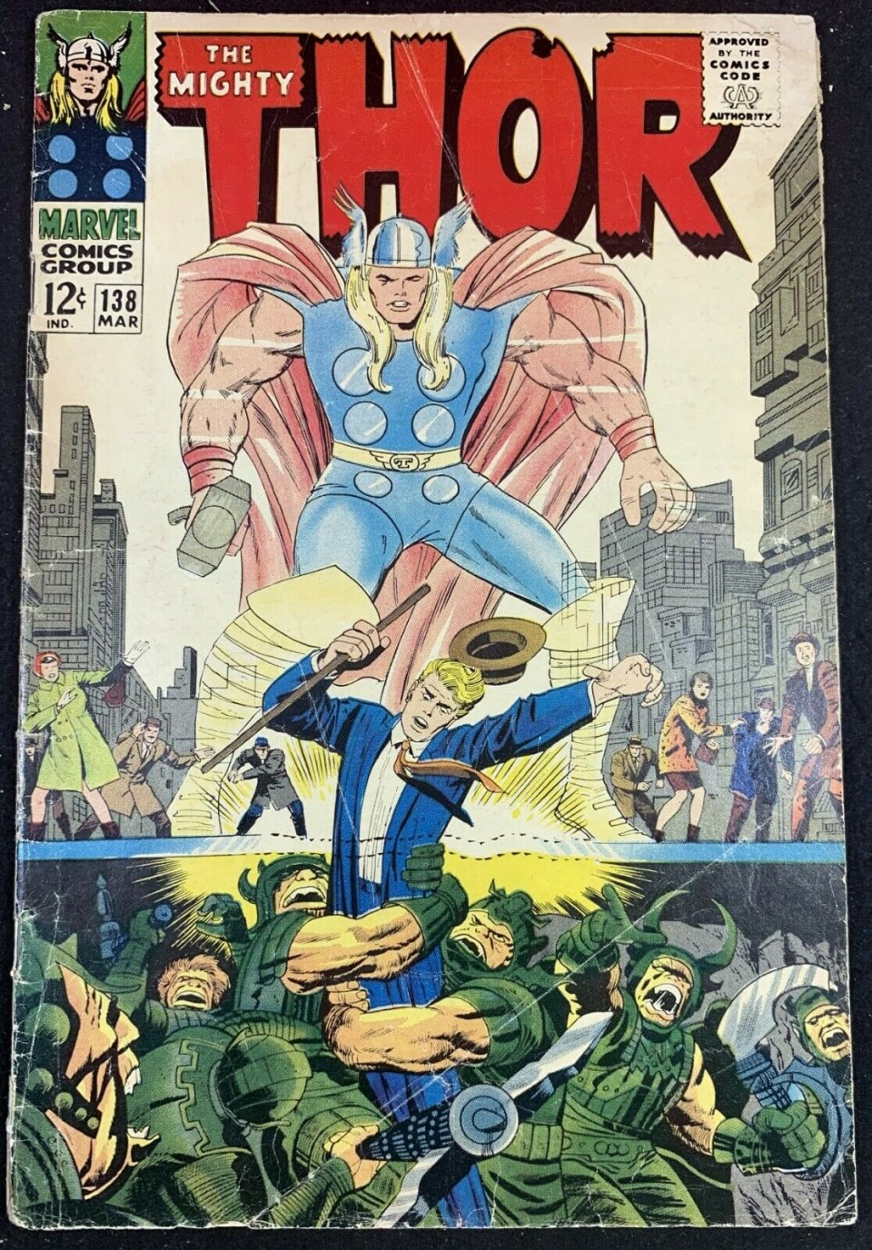 Thor vs Ulik # 122-1991 Marvel Universe Series 2 Impel Base Trading Card