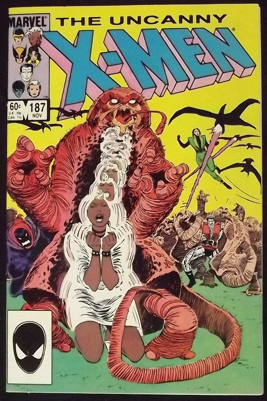 UNCANNY X-MEN #187 VF+ JOHN ROMITA JR ART