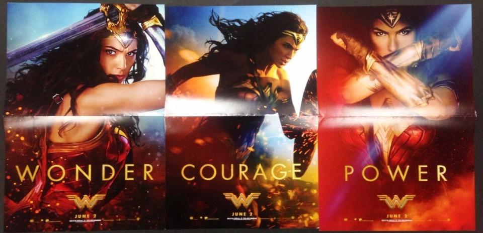 Recensione di Wonder Woman - tre poster del film