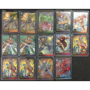 1995 Marvel Flair Annual Assorted Chromium Trading Cards Lot of 50