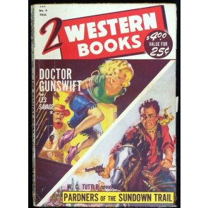 2 WESTERN BOOKS #4 PULP 1949
