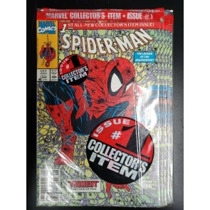 5 COPIES SPIDER-MAN #1 (1990) NM POLY-BAGGED GREEN UPC NEWSSTAND LOGO MCFARLANE~