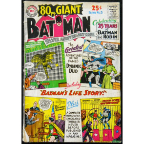 80 PAGE GIANT #5 GD/VG BATMAN 25TH ANNIVERSARY SPECIAL