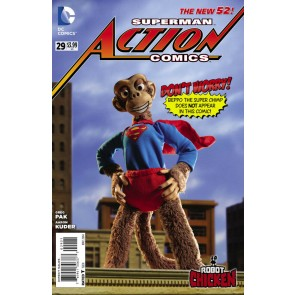Action Comics (2011) #29 VF/NM-NM Robot Chicken Beppo the Super Monkey Variant