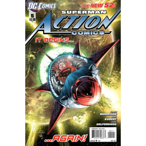 Action Comics (2011) #5 VF/NM 1st Printing Andy Kubert Cover The New 52!