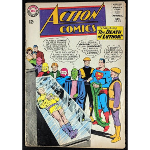 "Action Comics (1938) #318 GD- (1.8) ""Death of Luthor"" Brainac cover Supeman"
