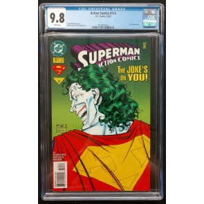 Action Comics (1938) #714 CGC 9.8 White Pages Joker Appearance (2019913013)