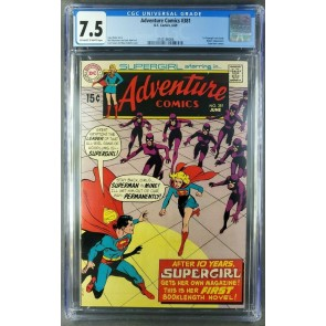 Adventure Comics #381 (1969) CGC 7.5 OWW - 1st Supergirl solo issue 3742146006|