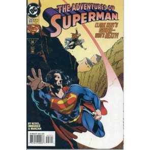 "ADVENTURES OF SUPERMAN (1987) #523 VF/NM ""THE DEATH OF CLARK KENT"" PART 2"