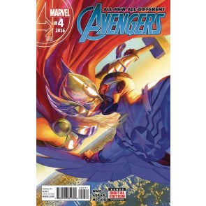 All-New All-Different Avengers (2015) #4 VF/NM Jane Foster Falcon Kissing Cover