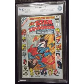 ALL-STAR SQUADRON #15 CBCS 9.6 HE-MAN MASTERS OF THE UNIVERSE PREVIEW NOT CGC