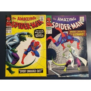 AMAZING SPIDER-MAN lot #44 & #45 (1967) 2nd, 3rd app Lizard High grade F+/VF-|