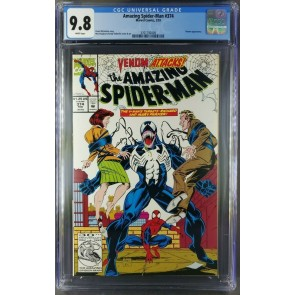 AMAZING SPIDER-MAN #374 CGC 9.8 WHITE PAGES MARK BAGLEY VENOM COVER 3701792009 |
