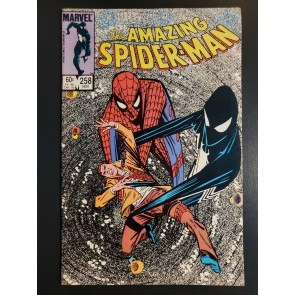 AMAZING SPIDER-MAN #258 (1984) NM- 9.2  BLACK SUIT REVEALED AS SYMBIOTE Direct|
