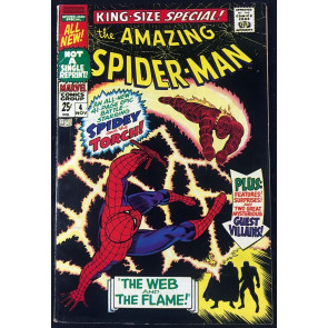 Amazing Spider-Man Annual (1967) #4 FN/VF (7.0) Human Torch battle cover