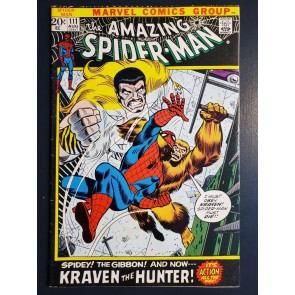 Amazing Spider-Man #111 (1972) VG+ (4.5) vs Kraven and the Gibbon picture frame|