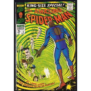 Amazing Spider-Man Annual (1968) #5 VF- (7.5) 1st app of Peter Parker's parents