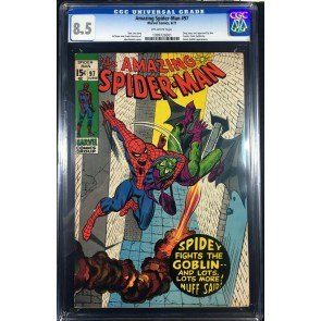 Amazing Spider-Man (1963) #97 CGC 8.5 no comics code drug story (1099726001)