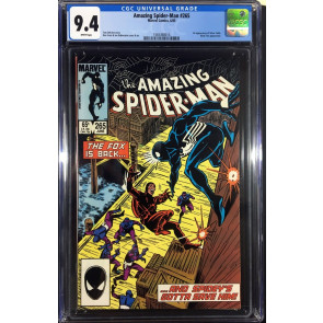 Amazing Spider-man (1963) #265 CGC 9.4 white 1st App Silver Sable (156368014)