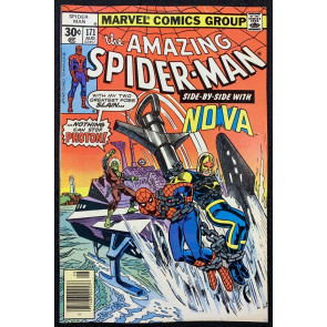 Amazing Spider-Man (1963) #171 VF- (7.5) Nova app continued from Nova #12