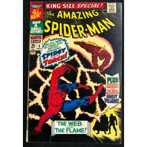 Amazing Spider-Man Annual (1964) #4 FN (6.0) Human Torch The Wizard Mysterio