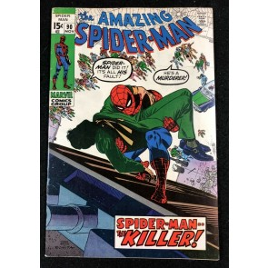 Amazing Spider-Man (1963) #90 FN+ (6.5) death of Captain Stacey (Gwen's father)