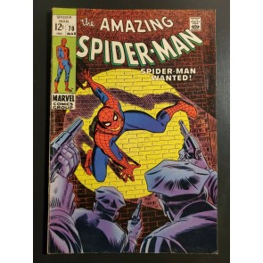 Amazing Spider-Man 70 (1968) F (6.0) 1st app. Vanessa Fisk in cameo |