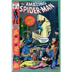 Amazing Spider-Man (1963) #96 FN+ (6.5) pt.1/3 drug story not  approved by CCA