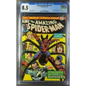 Amazing Spider-Man #135 (1974) CGC 8.5 VF+ OWW 2nd app of Punisher 3742146013|